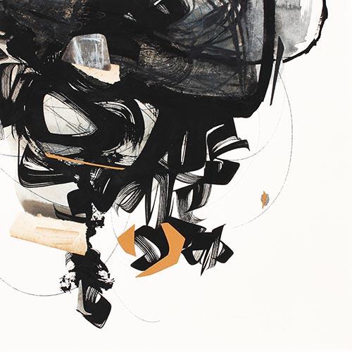 2018-843930 x 30 cmGouache, encre gallo-tanique, collages sur  papier
